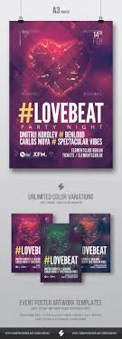 love beat vol house music party flyer poster template a love beat vol2 house music party flyer poster template a3