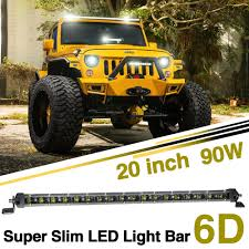 <b>CO LIGHT</b> 20 <b>Inch</b> Led Bar Single 6D Led Chip 90W Combo Slim ...