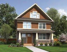 Plan TD  Award Winning Narrow Lot House Plan   Craftsman    Lots of Eplans Craftsman House Plan   Shingle Home Suited for Narrow Lots   Square Feet and