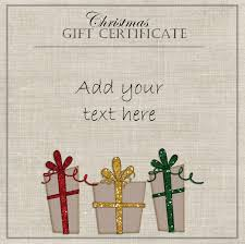 christmas gift certificate templates elegant gift certificate template three gifts red yellow and green ribbons