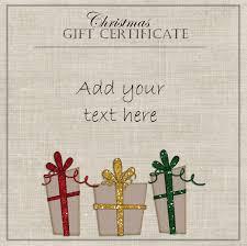 christmas gift certificate templates elegant gift certificate template three gifts red yellow and green ribbons