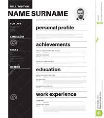 mini st resume template inspiration shopgrat basic cv resume template nice typography stock illustration mini st resume te
