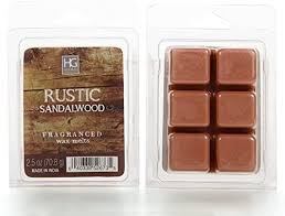 Hosley's Rustic Sandalwood Scented Wax Cubes / Melts - <b>70ml</b> ...