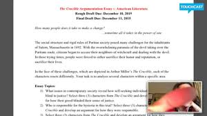 english 11 the crucible essay english 11 the crucible essay