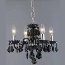 black chandelier lighting. elegant lighting 7804d15bjtrc rococo mini 4light black chandelier with