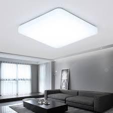 Simple LED Ceiling Lamp Square Aluminum Living Room Lamp ...