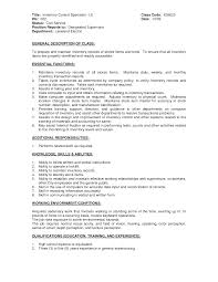 inventory manager job description  images for food and beverage    inventory control resume