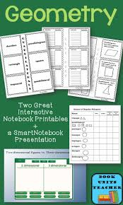 best ideas about geometry interactive notebook two interactive notebook printables and a smartboard presentation