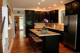 Colored Kitchen Appliances Kitchen Lovely Kitchen With Gray Granite Top Also Black Kitchen