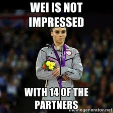 wei is not impressed with 14 of the partners - Unimpressed McKayla ... via Relatably.com