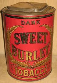 antique red dark sweet burley tobacco general store tin spaulding merrick liggett myers ebay antique furniture apothecary general store candy