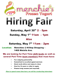 hiring fair at menchie s frozen yogurt c tec clackamas youth 2016 04 30 menchies hiring fair page 001