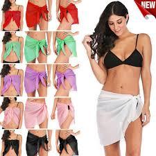 Women <b>Sexy Bikini Beach Cover</b> Up Sarong Pareo <b>Swimsuit</b> Wrap ...