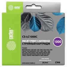 <b>Картридж</b> струйный <b>Cactus CS</b>-<b>LC1000C</b> голубой (20мл) для ...