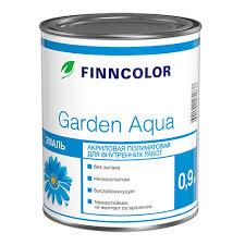 <b>Эмаль</b> полуматовая <b>Finncolor Garden</b> Aqua белая 0,9 л купить ...