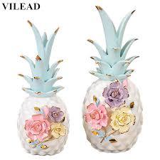 <b>VILEAD</b> 10'' 8.8'' 2 Size Colorful Mosaic Flower <b>Ceramic</b> Pineapple ...