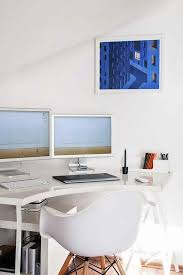 apple style clean and bright home office design bright home office design