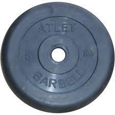 <b>Диски обрезиненные</b>, чёрного цвета, <b>51</b> мм, <b>Atlet</b> MB-AtletB50-5 ...