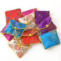 small zip bags silk fabric jewellery storage pouches with lining 50pcs lot mix color free