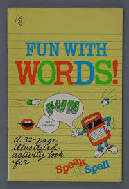 Instruction book:<b>Speak & Spell</b>: Fun With Words Activity Book ...