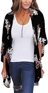 Hibluco <b>Women's</b> Chiffon Floral Kimono Cardigan <b>Summer Sheer</b> ...