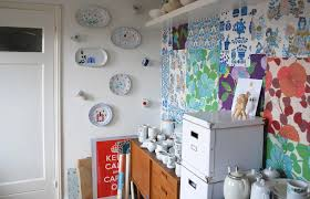 nina van de goors home studio inspiration for an eclectic craft room remodel in other charming office craft home wall