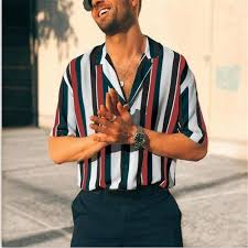 <b>Brand Summer Style</b> Hawaiian Shirt US Turn down Collar Short ...