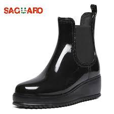 SAGUARO <b>Women Ankle Boots Female</b> Fashion PVC Waterproof ...