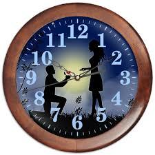 "Часы круглые из дерева ""<b>РОМАНТИКА</b>"" #2764468 от robus - <b>Printio</b>"