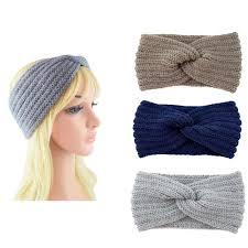 Buy <b>Women Winter</b> Warmer <b>Knitted</b> Woolen Cross Headband ...