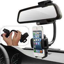 Universal 360° <b>Car</b> Mount Holder <b>Phone Stand Rear</b> View Mirror ...
