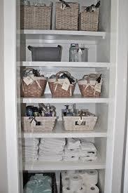 ideas bathroom closet shelving