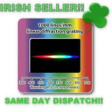 Diffraction Grating <b>Slides</b> 1000 lines/mm linear | eBay