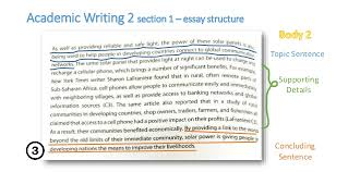 academic writing    essay structure pages   academic writing  section   essay structure topic sentence supporting details concluding sentence
