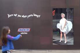 Snickers Freaks Out Marilyn Monroe Oglers With Funny Digital ...