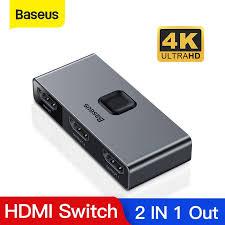 <b>Baseus 4K</b> 60Hz <b>HDMI Splitter</b> 2 Ports Bi-Direction <b>HDMI Switcher</b> ...