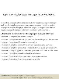 topelectricalprojectmanagerresumesamples lva app thumbnail jpg cb