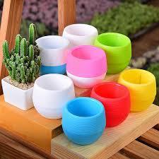 Online Shop 1/<b>5pcs</b> Plastic Mini <b>Flower</b> Pot Durable Plants Nursery ...