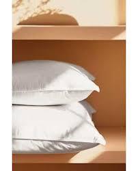<b>Чехол для подушки</b> изо льна желтого <b>цвета</b> с принтом 'Тюльпан ...