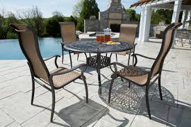 comfortable patio chairs aluminum chair:  pc desert rose dining set alfresco home