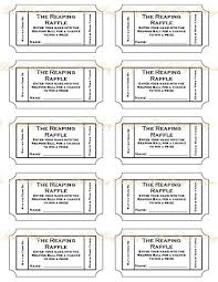 printable raffle tickets template info raffle tickets to print