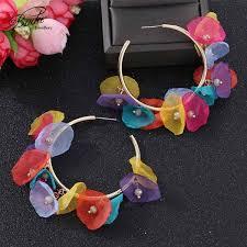 2019 <b>Badu</b> Bohemian Colorful Hoop Earrings For Women <b>Fashion</b> ...