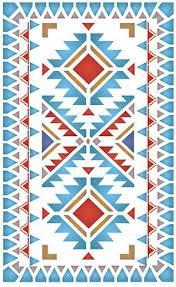 Native American Border Designs  North Plains Stencil Stencilled With The Navajo Chevron   O