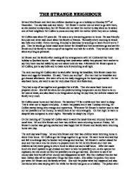 my neighbourhood essay  www gxart orgthe strange neighbour gcse english marked by teachers compage zoom in
