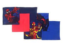 <b>Marvel</b> Spiderman Web Warriors <b>6 Piece</b> Cotton Washcloth <b>Set</b>, 6