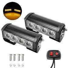 Shop <b>2PCS</b> 7-Flashing Mode 12V <b>4 LED Strobe Flash</b> Grille Light ...