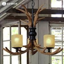 Antlers lamp wall lights antlers <b>American country retro creative</b> resin ...