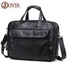 <b>JOYIR Men</b> Briefcases Genuine <b>Leather</b> Vintage Handbag 15 ...