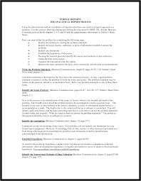 financial analysis report writing management resume formal reports it