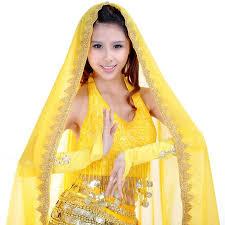 <b>12 Colors</b> Sari Dancewear India <b>Belly</b> Dance Clothes Wrap Head ...